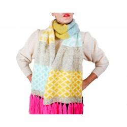 Bufanda OVERSIZE de lana Wool'n Wild Jaune adulto