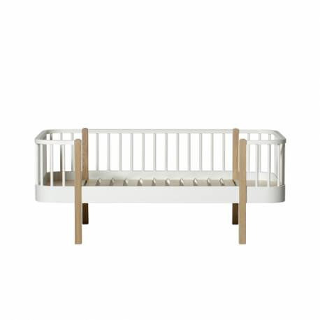 Cama Wood Junior Oliver Furniture White/Oak