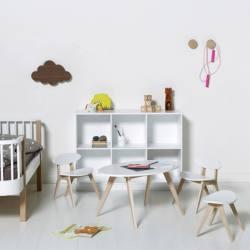 Conjunto Wood Pingpong Oliver Furniture White/Oak