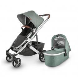 Carrito de bebé dúo UPPAbaby CRUZ V2 Emmet (verde melange)