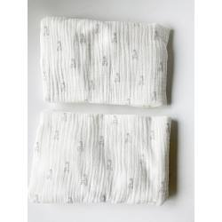 Pack 2 bajeras para colchón de capazo Only Jirafas blanca