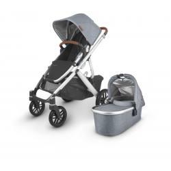 Carrito de bebé dúo UPPAbaby VISTA V2 Gregory (azul-gris melange)