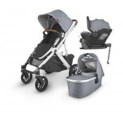 Pack i-Size UPPAbaby VISTA V2 Gregory (azul-gris melange)