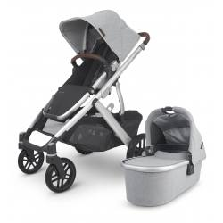 Carrito de bebé dúo UPPAbaby VISTA V2 Stella (gris melange claro)