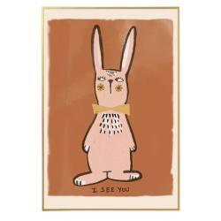 Lámina Decorativa Rabbit Rose 50*70
