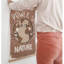 Lámina decorativa con marco magnético Power to Nature