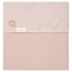 Manta para cuna Amberes grey/pink Koeka