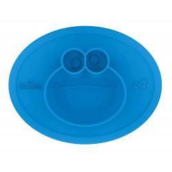 Plato de aprendizaje divisorio de silicona Cookie Monster EZPZ (+12 meses)