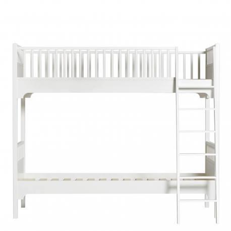 Litera Seaside 90* 200* Escalera Inclinada White Oliver Furniture