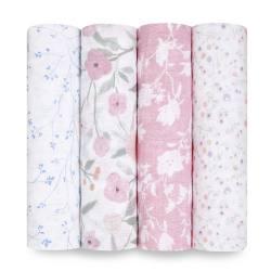 Pack 4 muselinas algodón Aden + Anais Mon Fleur